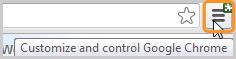 Ícone de configurações selecionado.