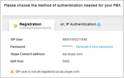 Die Details zur Registrierung des Profils