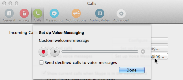 Set up Voice Messaging box