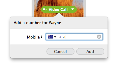 Screenshot of the box for entering a phone number for a contact in Skype. In the box, you can also choose the type of the number you are entering
