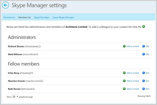 Impostazioni Skype Manager