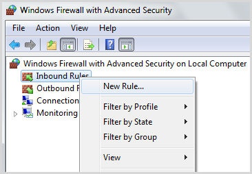how to open firewall settings in windows 7