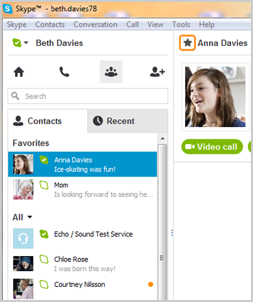 Rencontres contacts skype