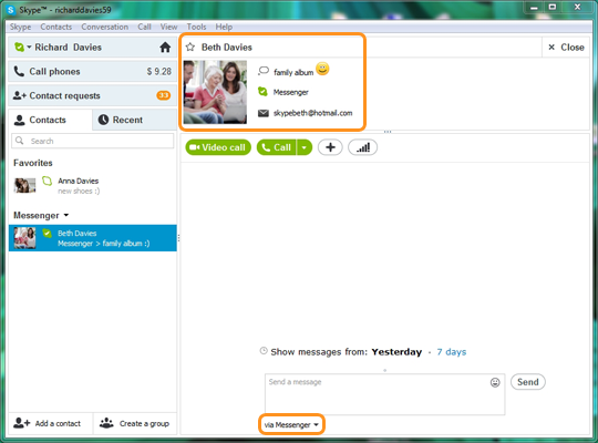 messenger online anmelden