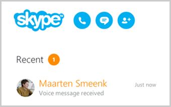Lista Recenti dove puoi trovare i messaggi vocali ricevuti