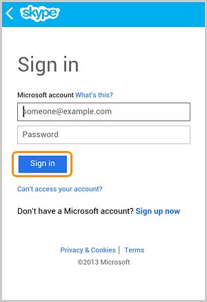 Botón Iniciar sesión seleccionado en la pantalla Iniciar sesión con una cuenta de Microsoft.