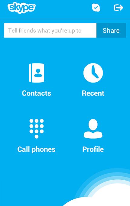 Skype версии для android
