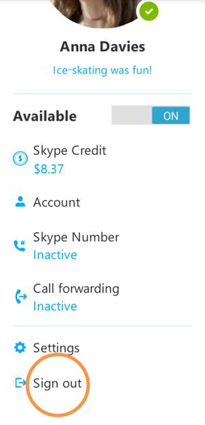 how to delete skype username on iphone