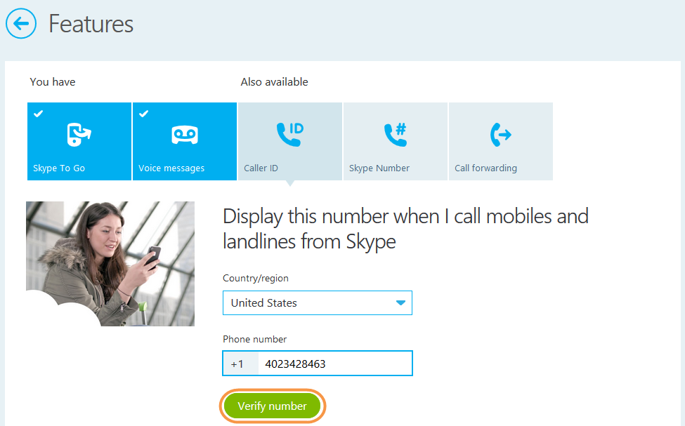 Change my caller id sprint