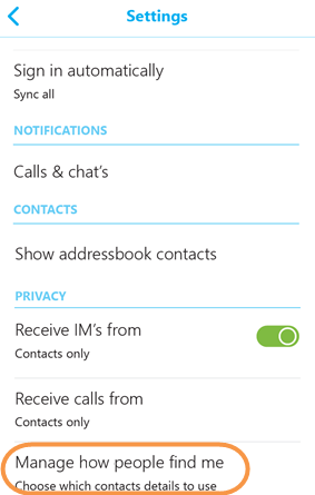 how to delete skype id on android